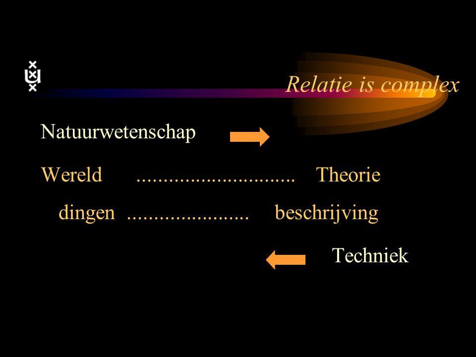 Relatie is complex Natuurwetenschap
