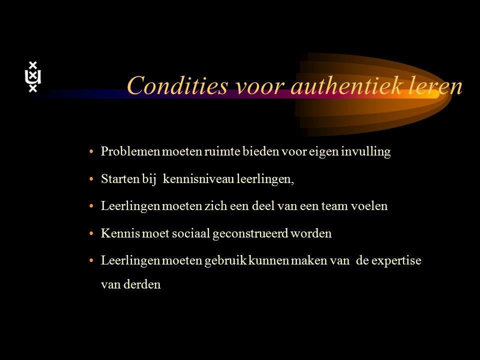 Condities voor authentiek leren