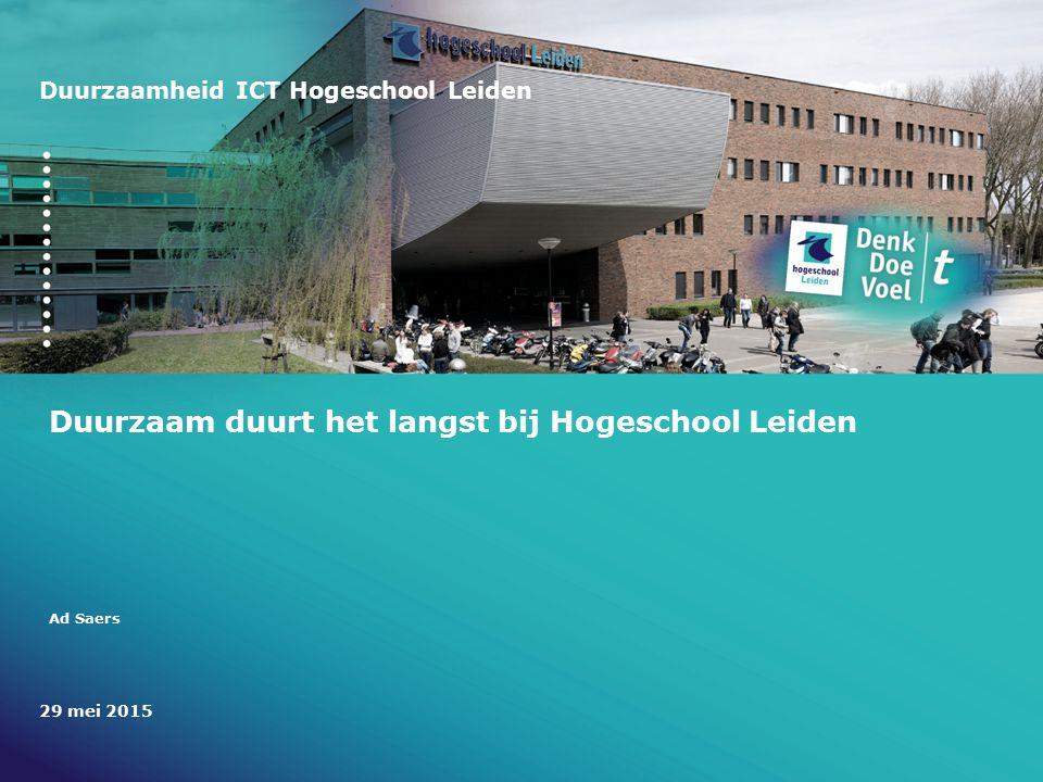 Duurzaam duurt het langst bij Hogeschool Leiden