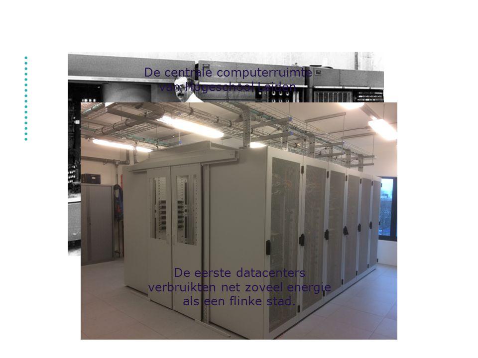 De centrale computerruimte van Hogeschool Leiden