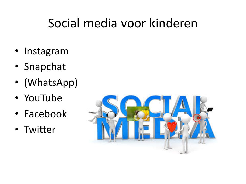 Social media voor kinderen