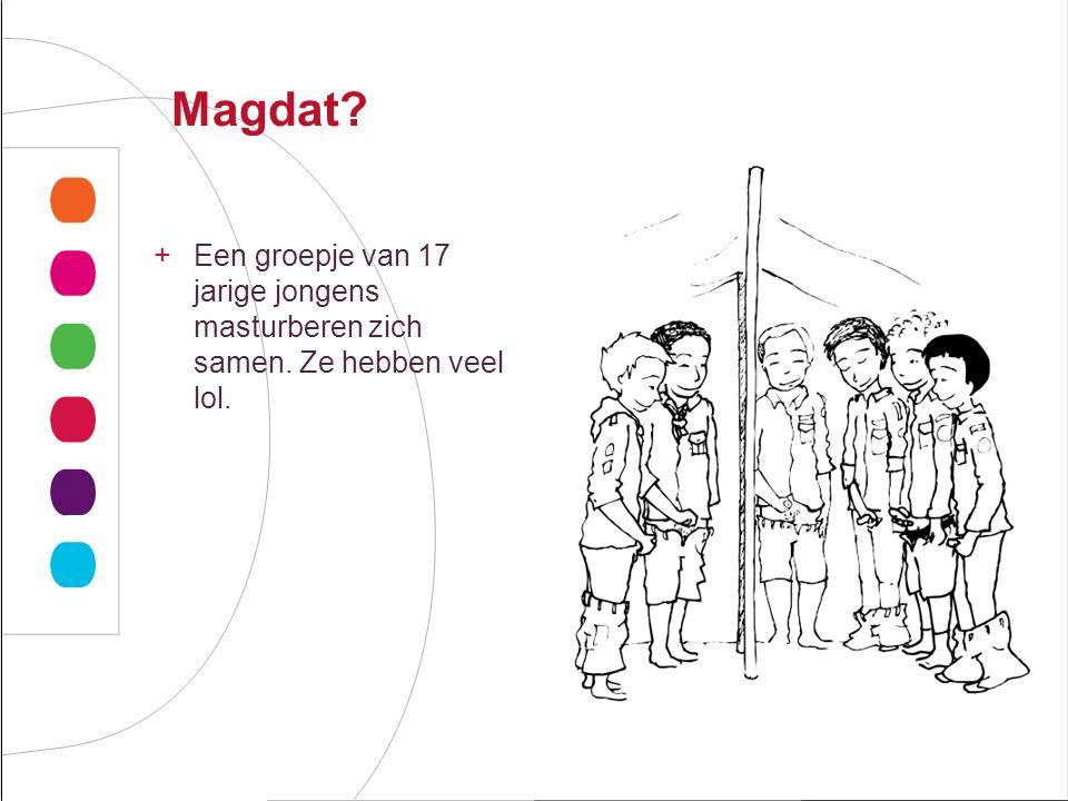 Magdat Een groepje van 17 jarige jongens masturberen zich samen. Ze hebben veel lol. Groen/geel