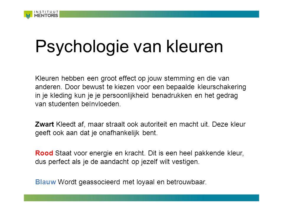 Psychologie van kleuren