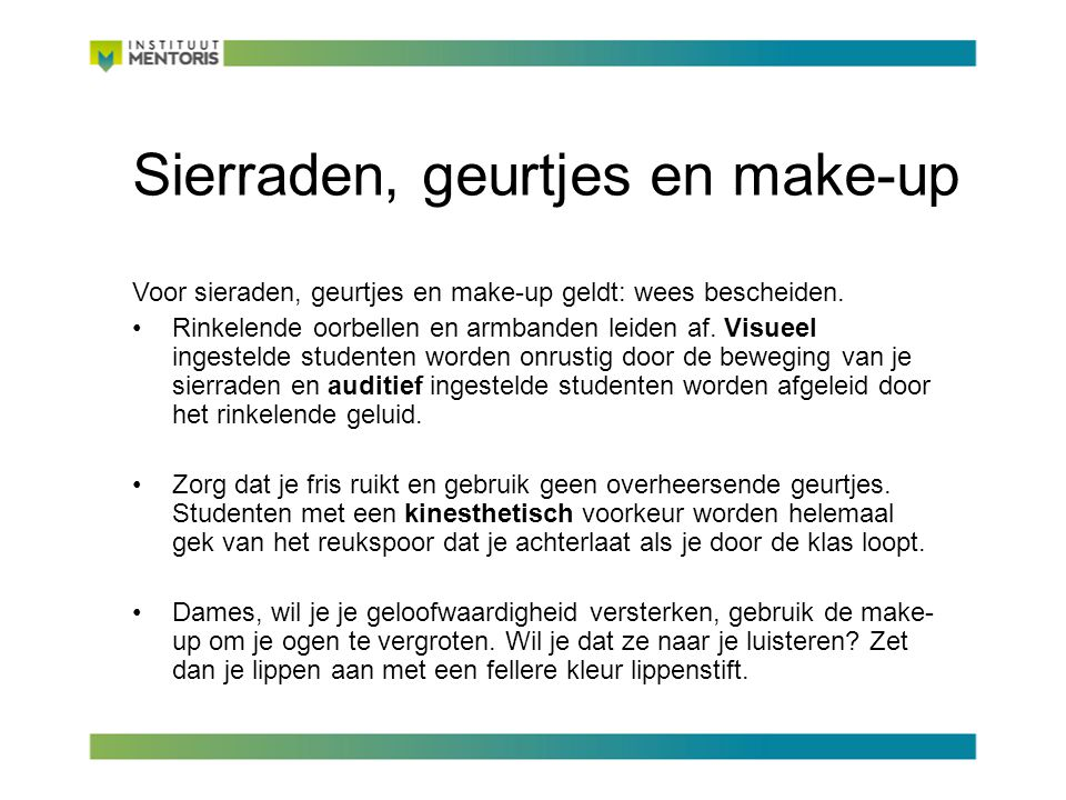 Sierraden, geurtjes en make-up