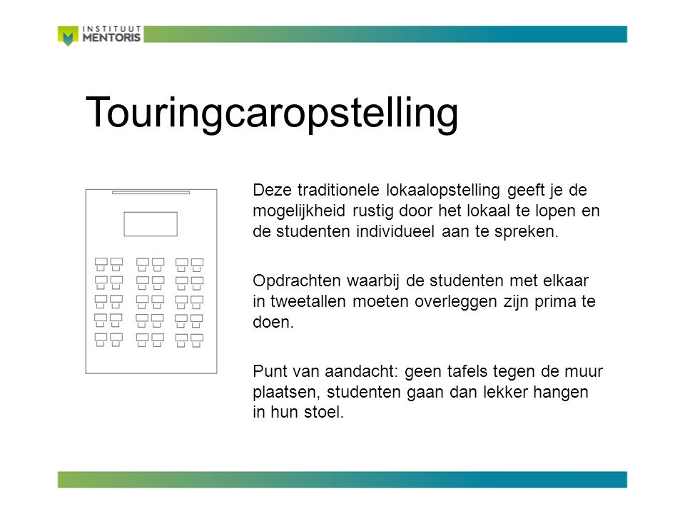 Touringcaropstelling