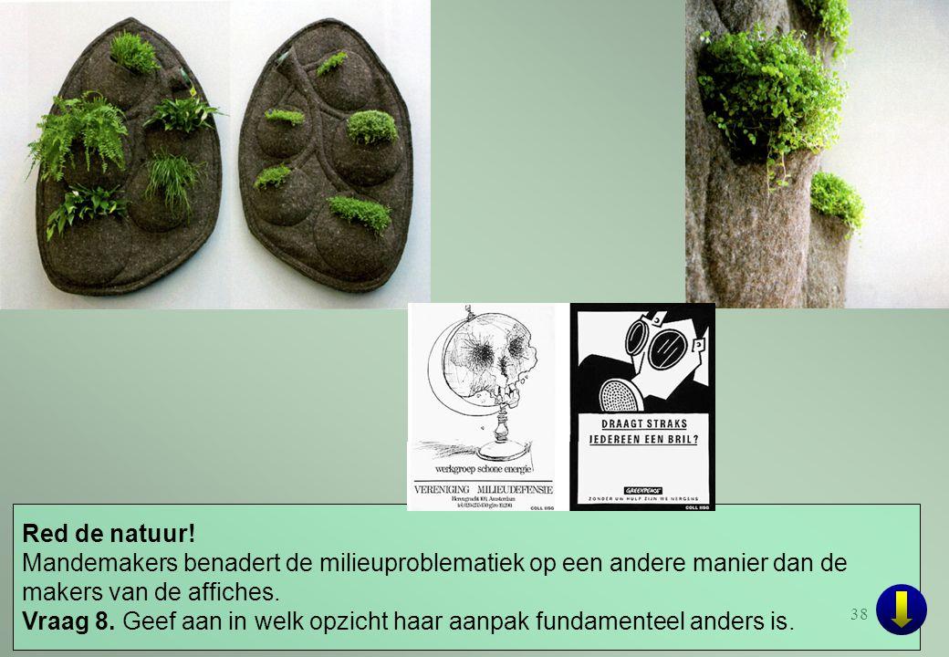 Red de natuur! Mandemakers benadert de milieuproblematiek op een andere manier dan de makers van de affiches.