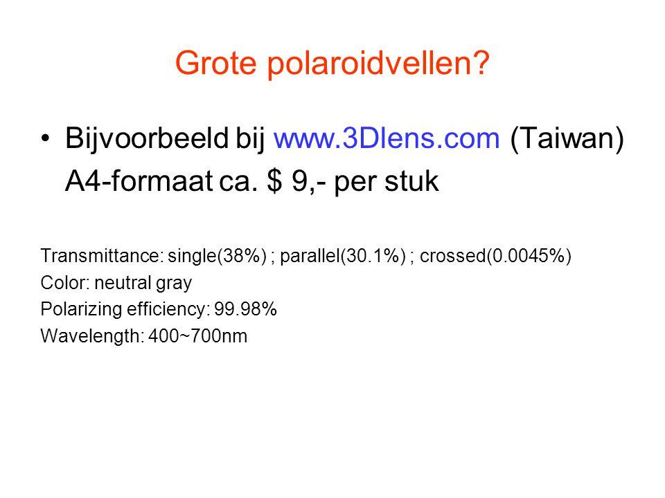 Grote polaroidvellen Bijvoorbeeld bij www.3Dlens.com (Taiwan)