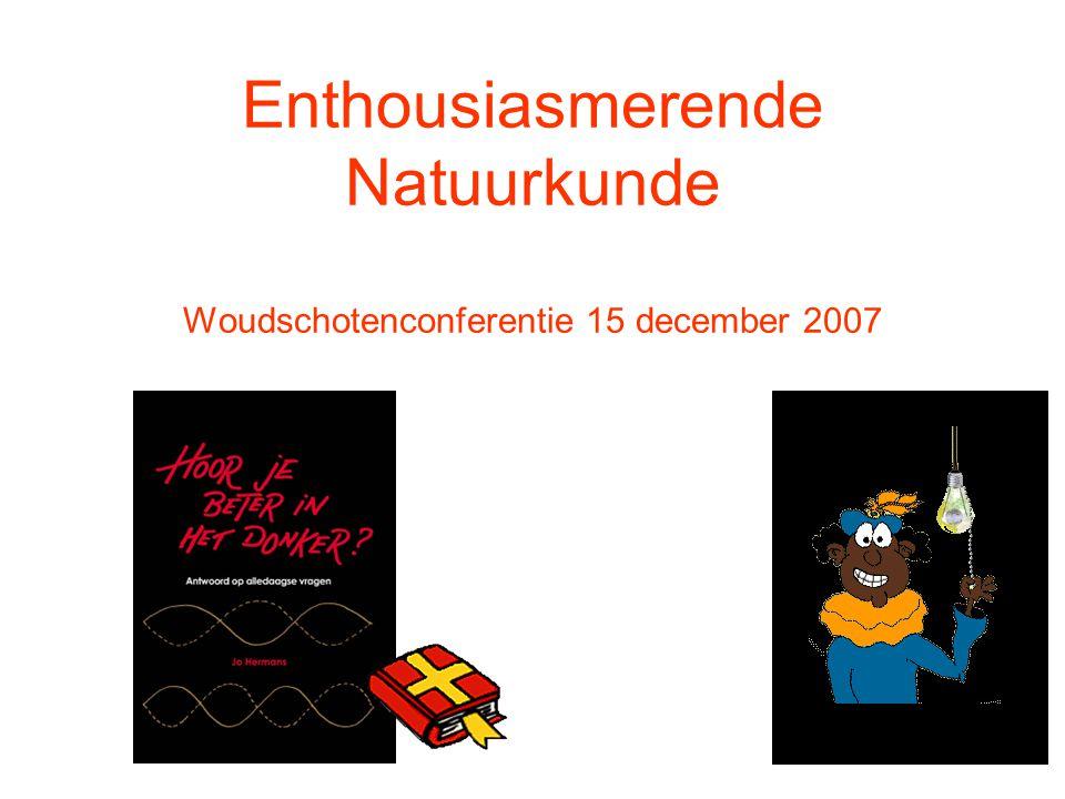 Enthousiasmerende Natuurkunde Woudschotenconferentie 15 december 2007