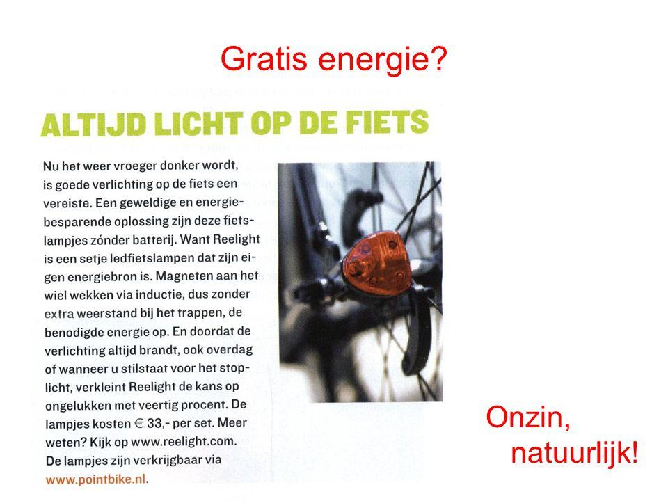 Gratis energie Onzin, natuurlijk!