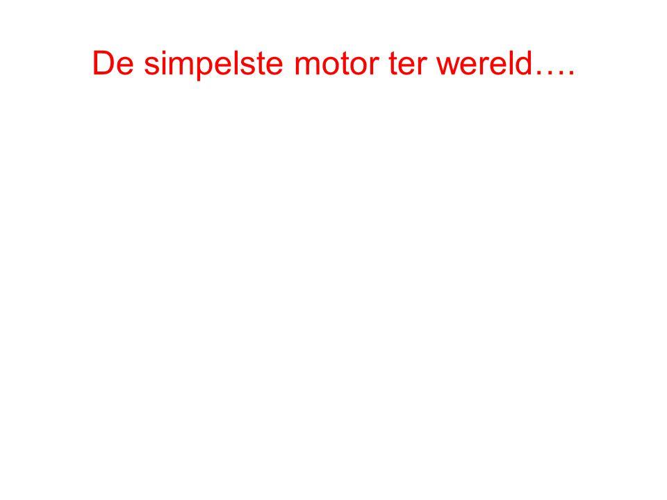 De simpelste motor ter wereld….