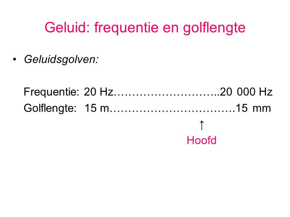Geluid: frequentie en golflengte