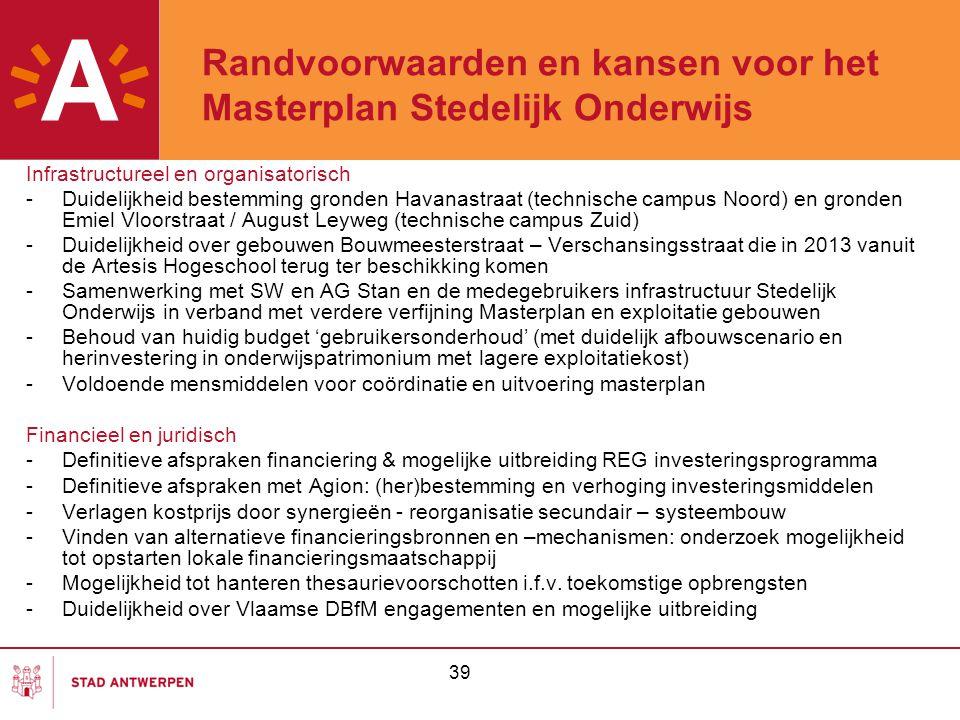 Randvoorwaarden en kansen voor het Masterplan Stedelijk Onderwijs