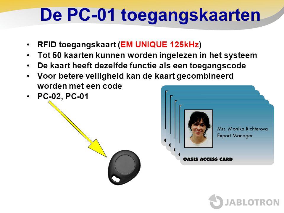 De PC-01 toegangskaarten
