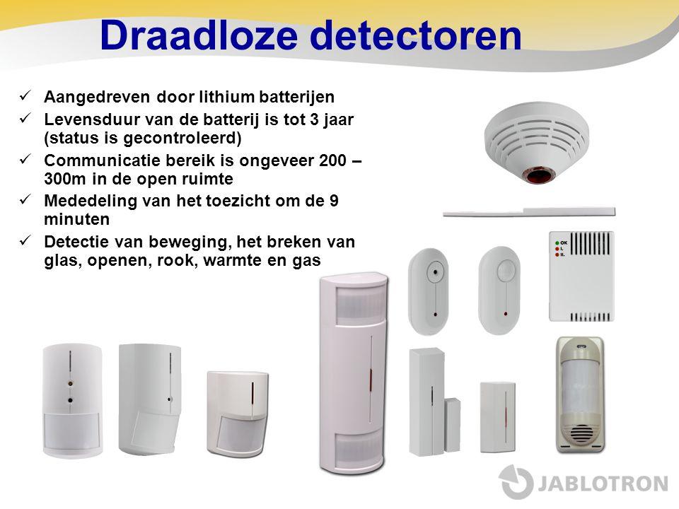 Draadloze detectoren Aangedreven door lithium batterijen