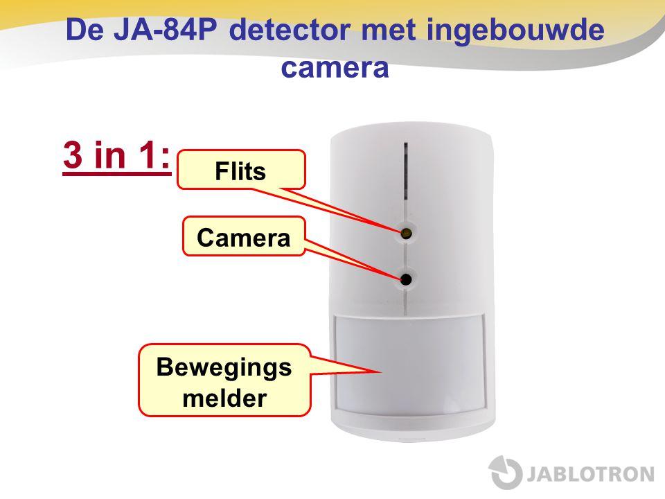 De JA-84P detector met ingebouwde camera