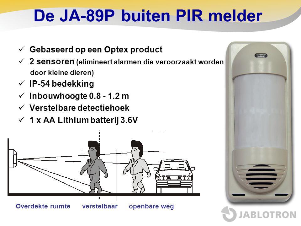 De JA-89P buiten PIR melder