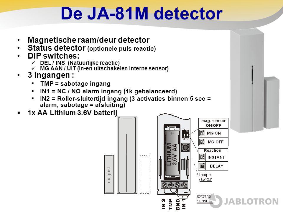 De JA-81M detector Magnetische raam/deur detector