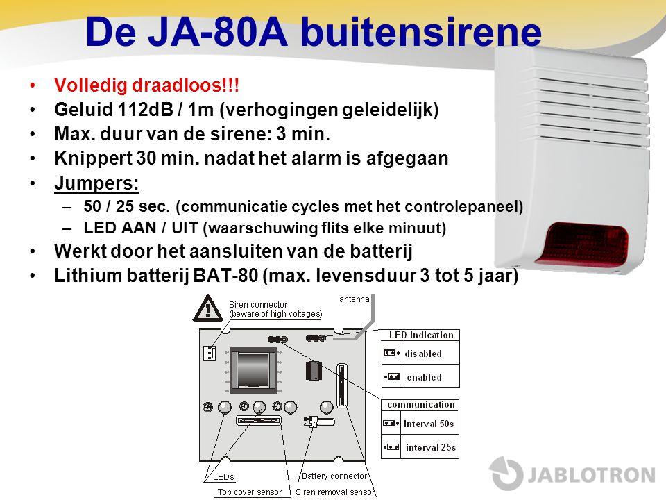De JA-80A buitensirene Volledig draadloos!!!