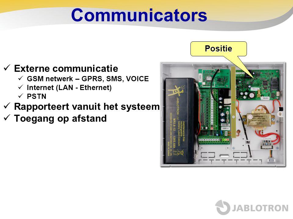 Communicators Externe communicatie Rapporteert vanuit het systeem