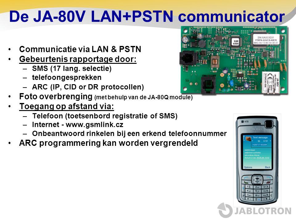 De JA-80V LAN+PSTN communicator