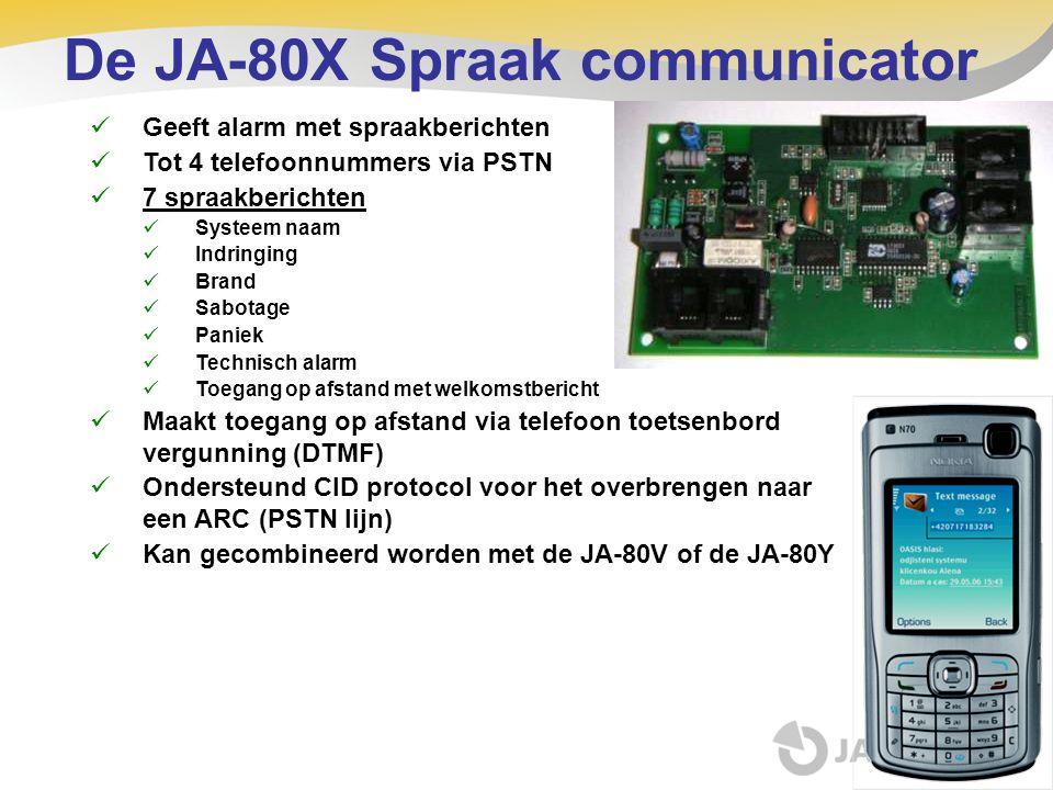 De JA-80X Spraak communicator