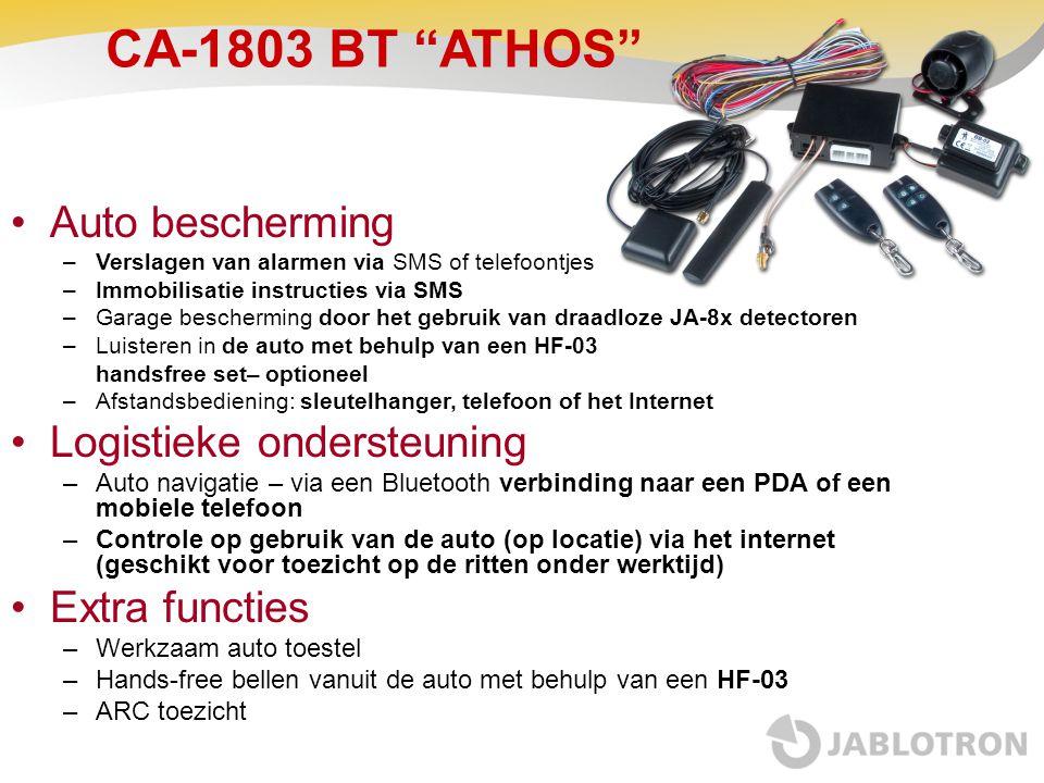 CA-1803 BT ATHOS Auto bescherming Logistieke ondersteuning