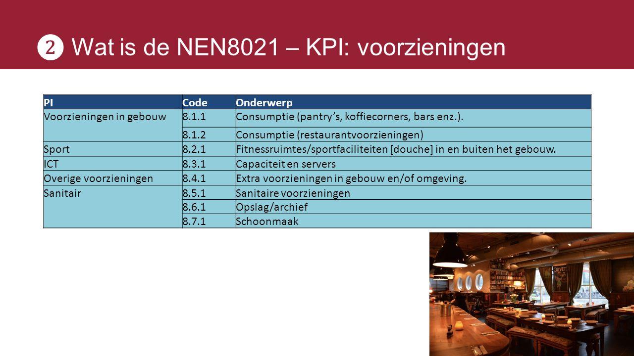 ❷ Wat is de NEN8021 – KPI: voorzieningen