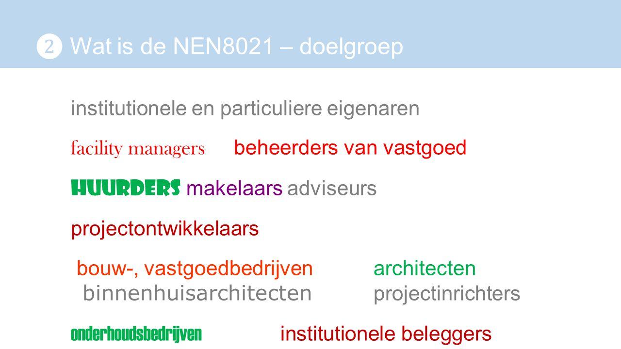 ❷ Wat is de NEN8021 – doelgroep