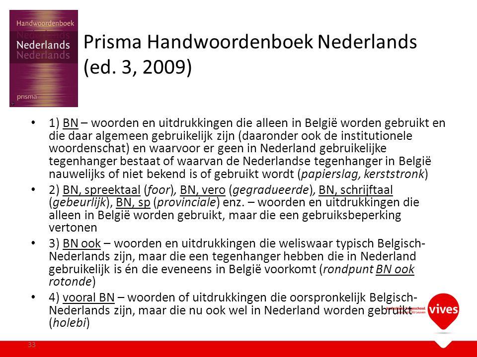 Prisma Handwoordenboek Nederlands (ed. 3, 2009)
