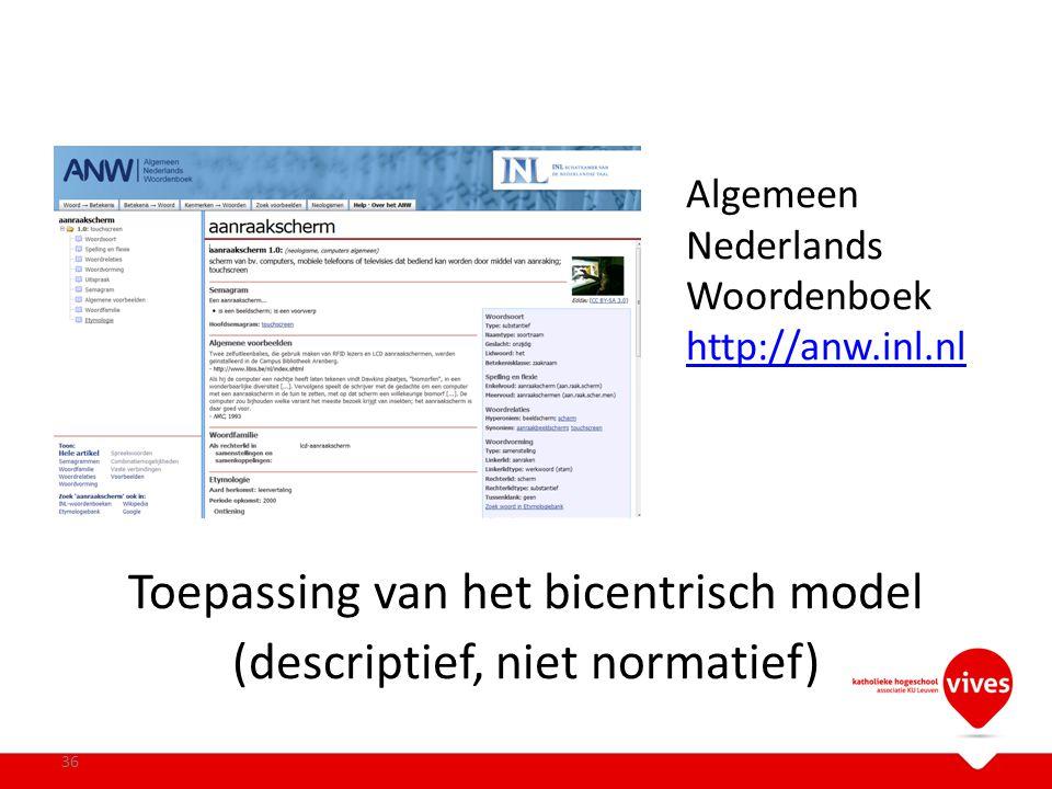Algemeen Nederlands Woordenboek http://anw.inl.nl