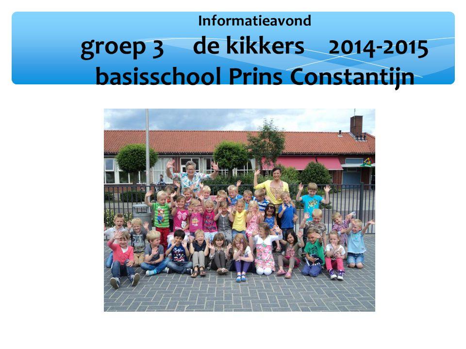 Informatieavond groep 3 de kikkers 2014-2015 basisschool Prins Constantijn
