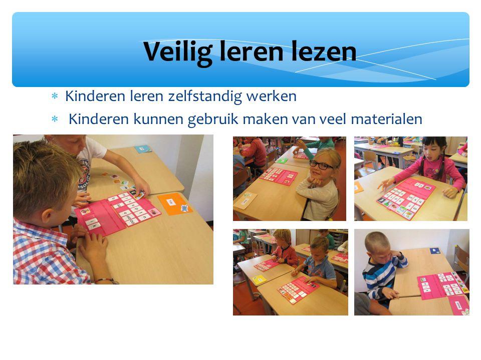 Veilig leren lezen Kinderen leren zelfstandig werken