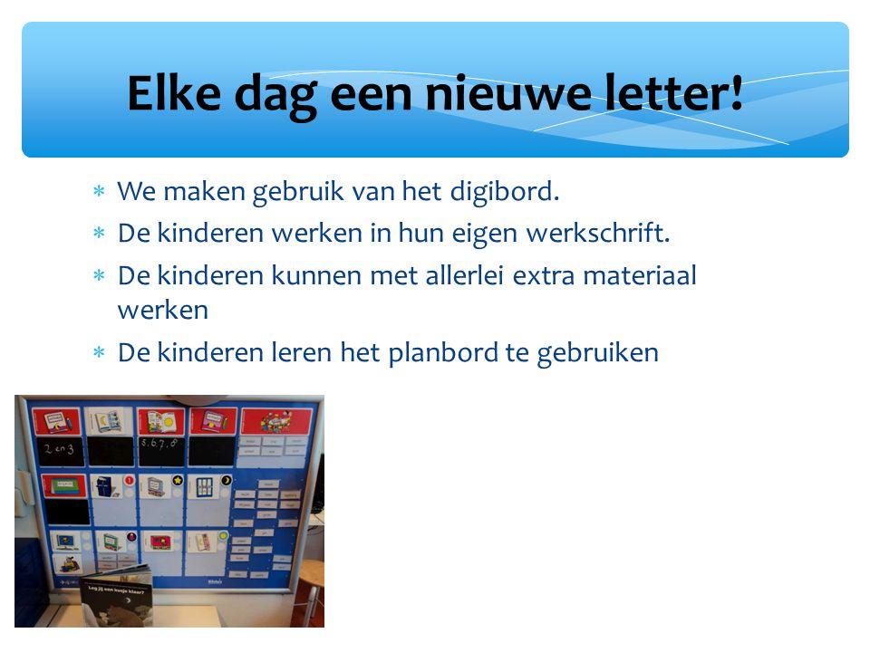 Elke dag een nieuwe letter!