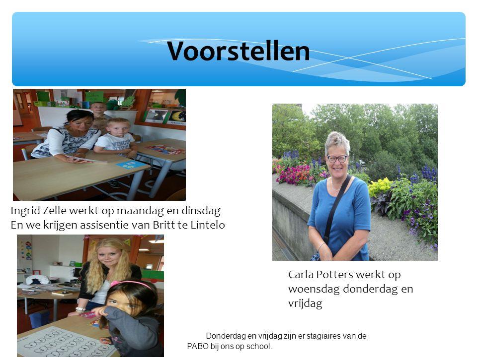 Voorstellen Ingrid Zelle werkt op maandag en dinsdag