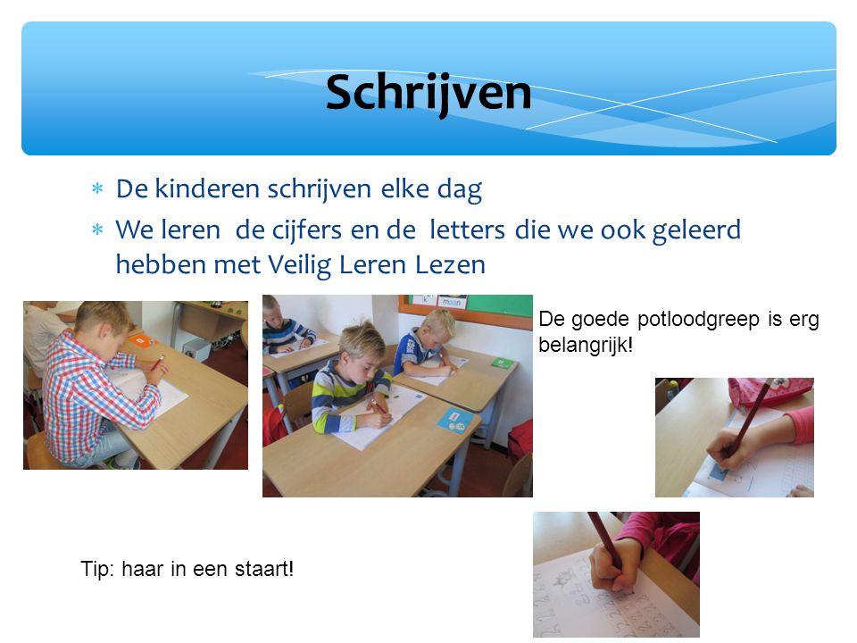 Schrijven De kinderen schrijven elke dag