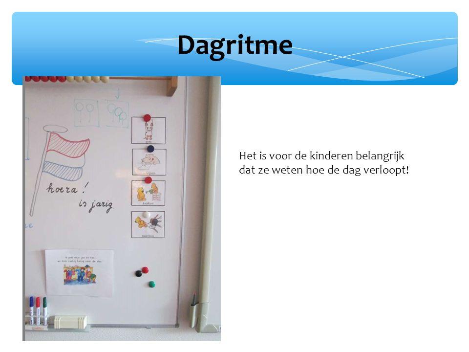 Dagritme Het is voor de kinderen belangrijk dat ze weten hoe de dag verloopt!