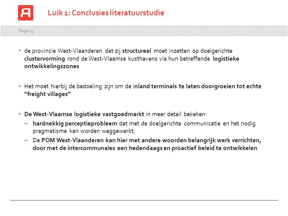 Luik 1: Conclusies literatuurstudie