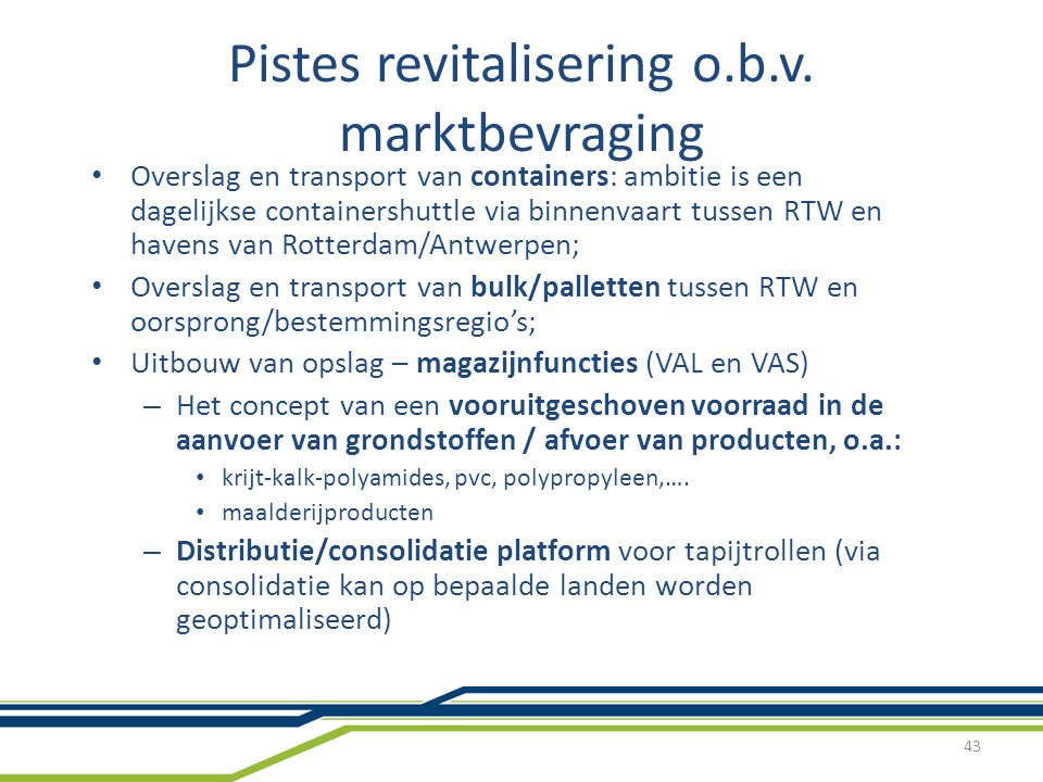 Pistes revitalisering o.b.v. marktbevraging