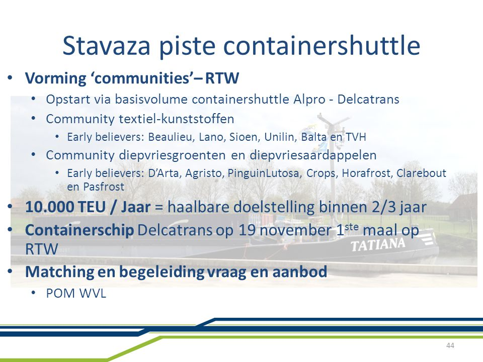 Stavaza piste containershuttle
