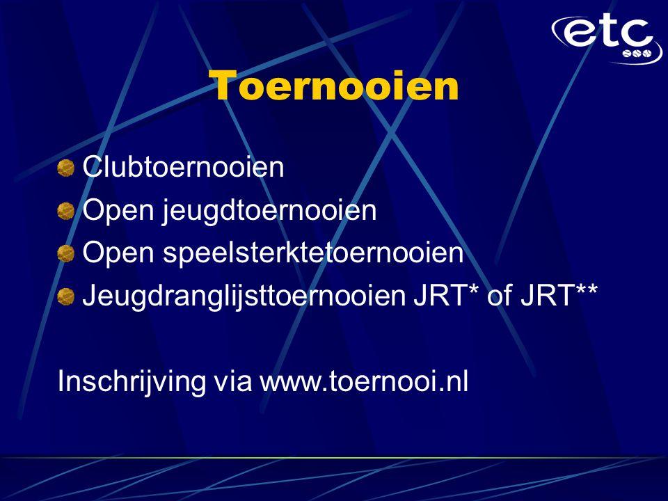 Toernooien Clubtoernooien Open jeugdtoernooien