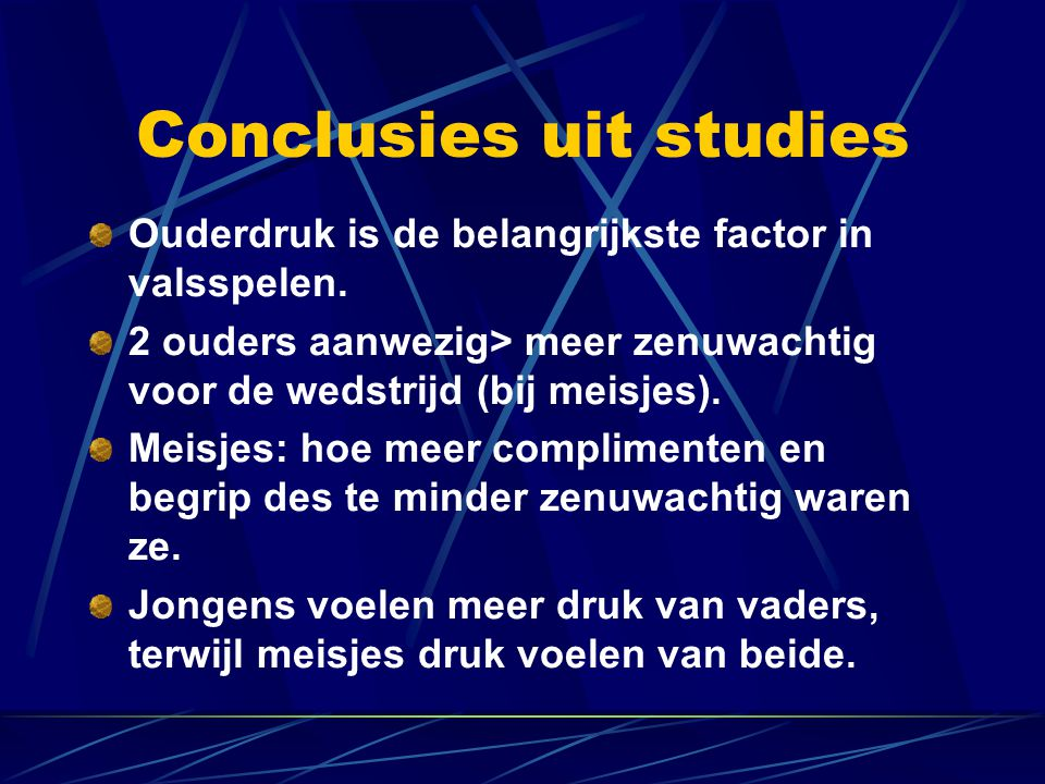 Conclusies uit studies