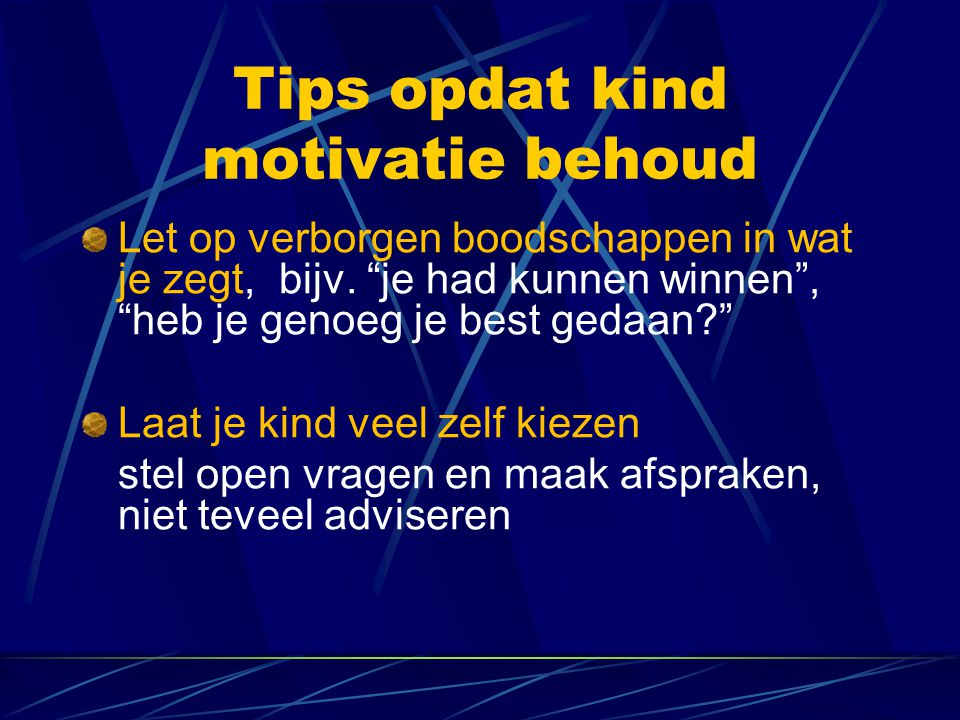 Tips opdat kind motivatie behoud
