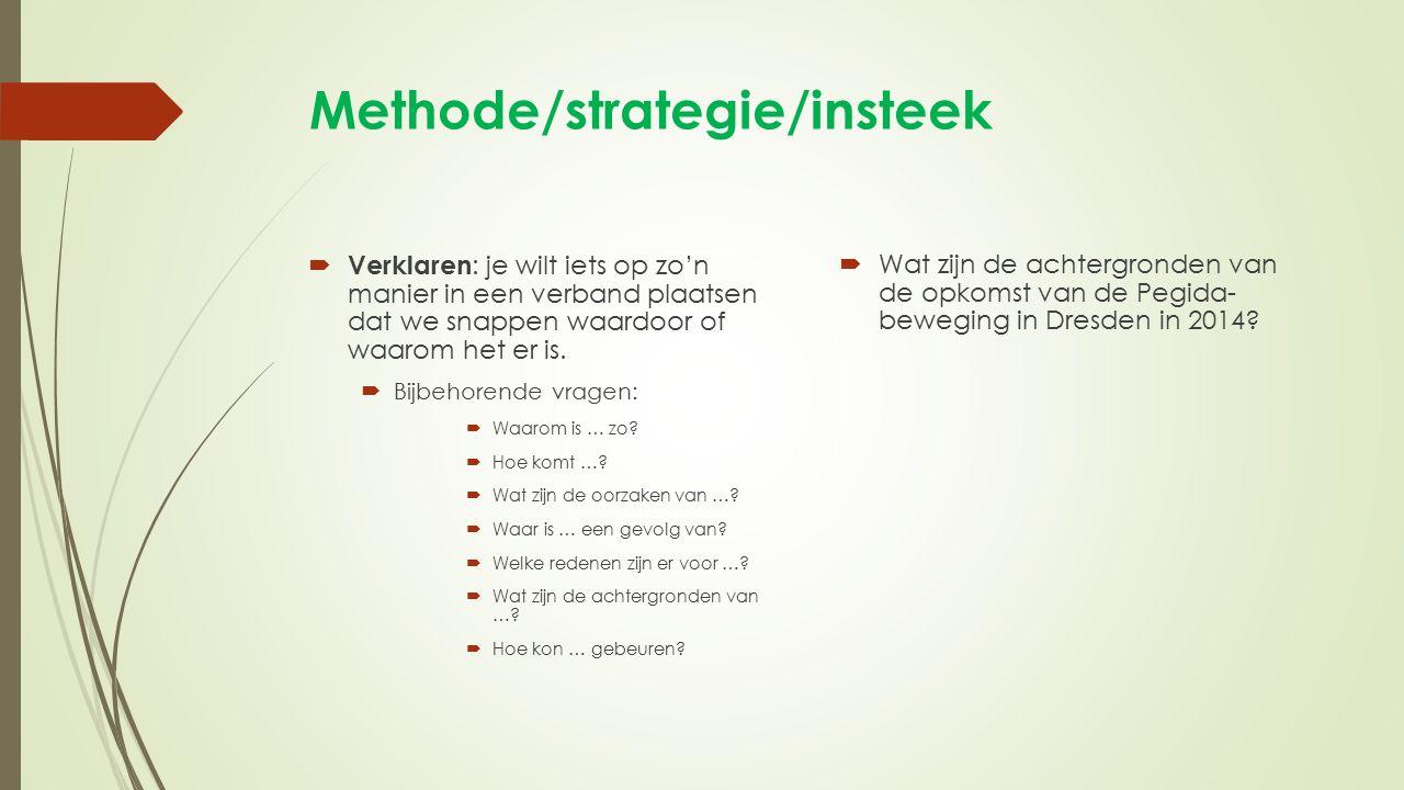 Methode/strategie/insteek