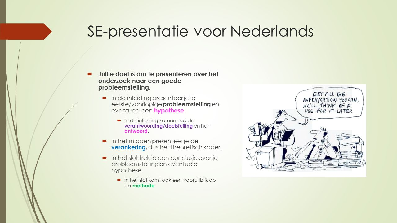 SE-presentatie voor Nederlands