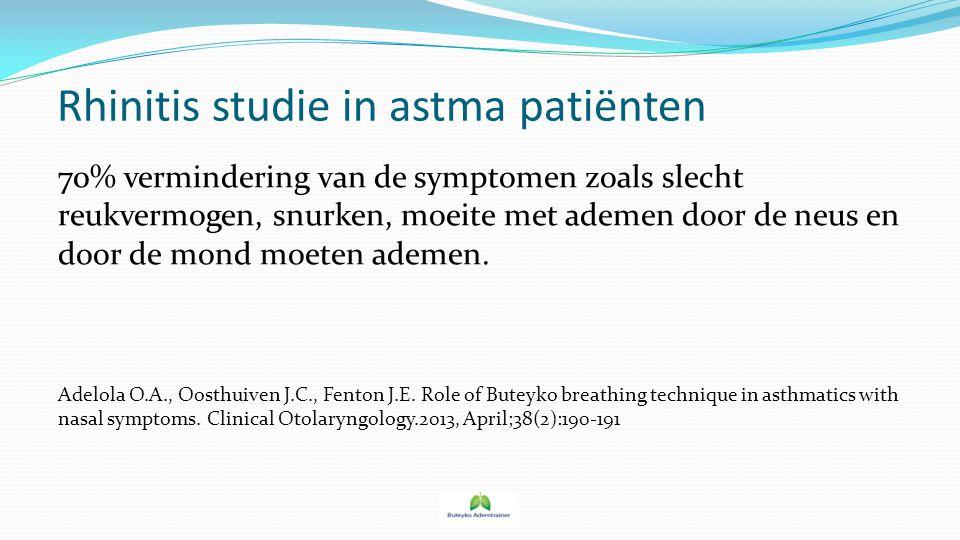 Rhinitis studie in astma patiënten