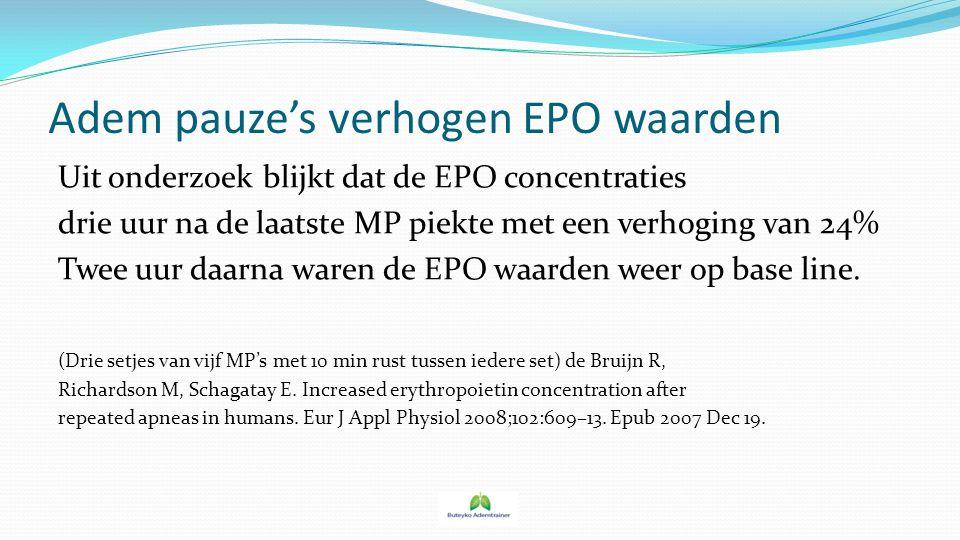 Adem pauze's verhogen EPO waarden