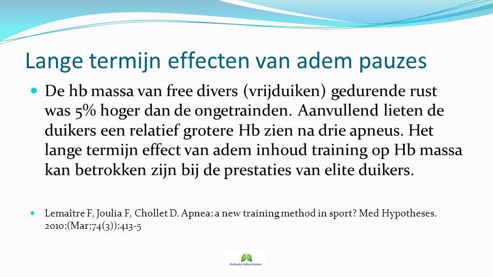 Lange termijn effecten van adem pauzes