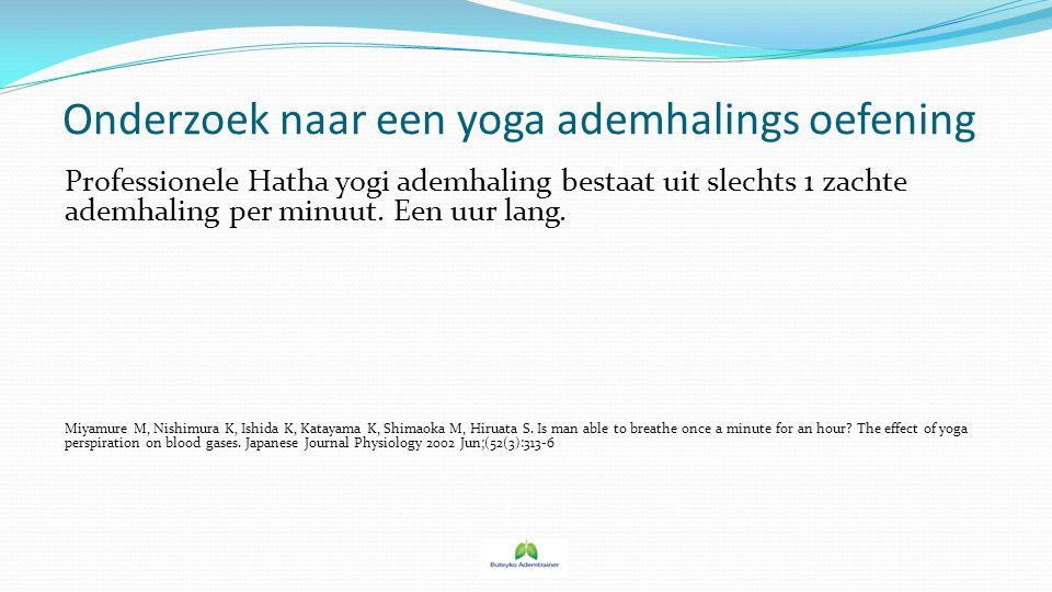Onderzoek naar een yoga ademhalings oefening