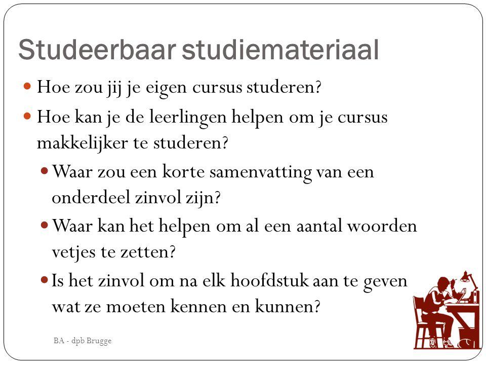 Studeerbaar studiemateriaal