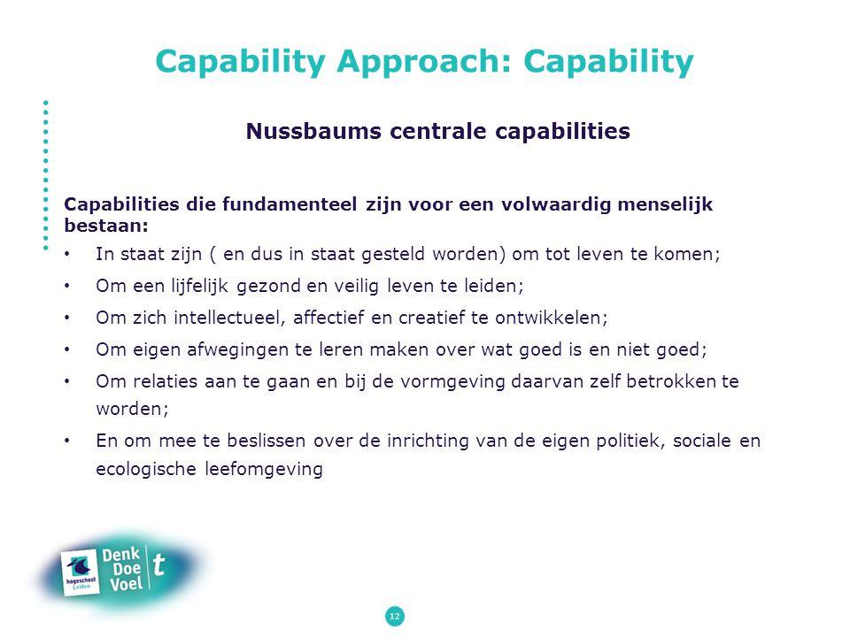 Capability Approach: Capability